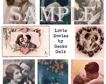 Lovie Dovies Digital Collage Sheet