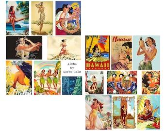 Aloha Digital Collage Set