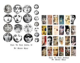 Face To Face Jewel It Collage Set