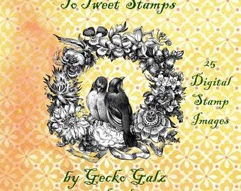 Too Tweet Digital Stamp Set