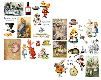Wonderland Collage Set