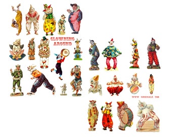 Clowning Around Digital Collage Set