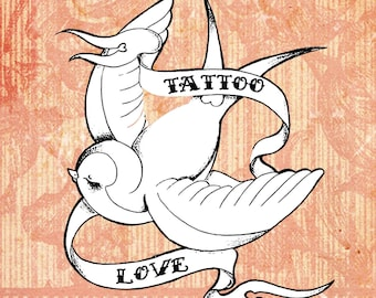 Tattoo Love Digital Stamp Set