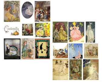 Cinderella Digital Collage Set