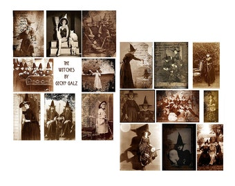 The Witches Digital Collage Set