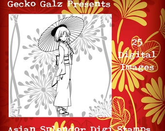 Asian Splendor Digital Stamp Set