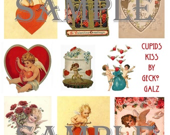 Cupids Kiss Collage Sheet