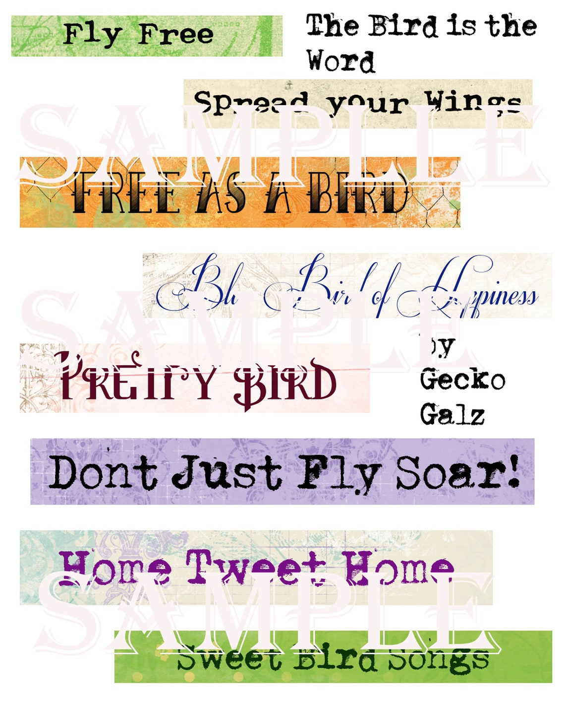 Bird is the Word Collage Sheet image 0
