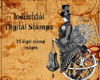 Industrial Digital Stamp Set