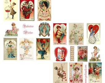 Little Valentine Wishes Digital Collage sheets