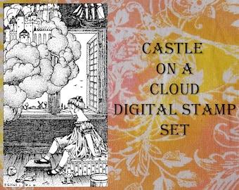 Castle On A Cloud Digital Stamp Set