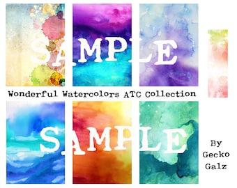 Wonderful Watercolors ATC Collection