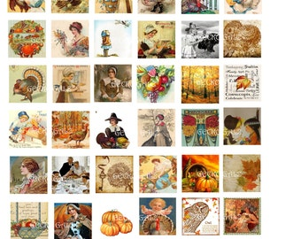 Autumn Fun Inchies Digital Collage Sheet