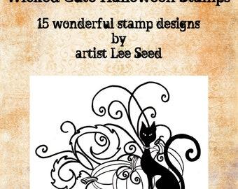 Wicked Cute Halloween Digital Stamps by Lee Seed
