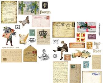 Postal Digital Collage Set