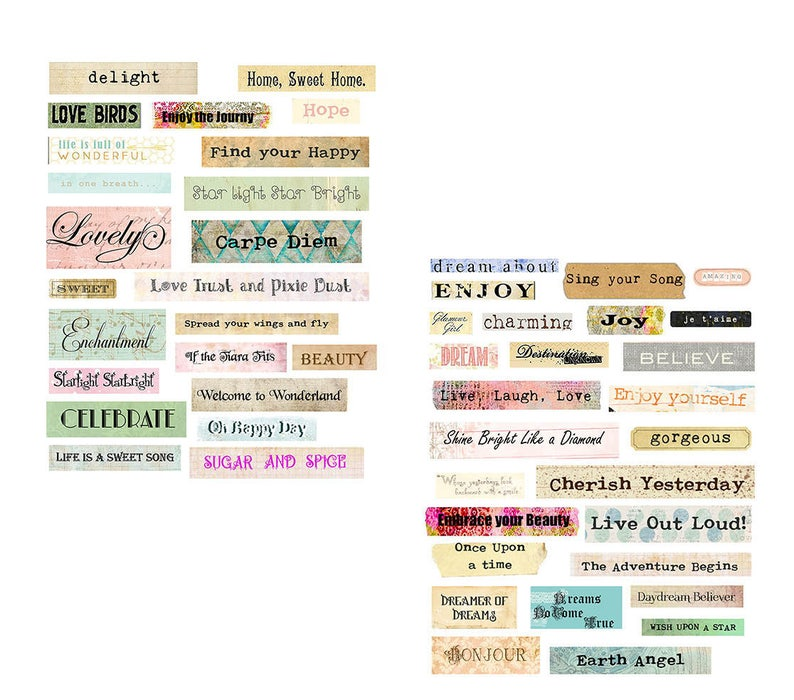 Charming Words collage set image 0