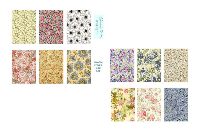 Flower Power Digital ATC Collection image 0