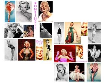 Bombshell Digital Collage set