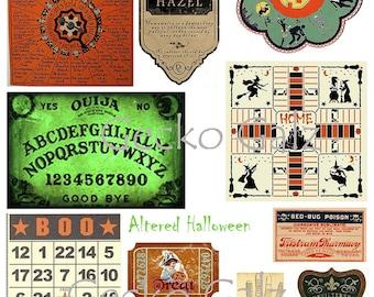 Altered Halloween DIgital Collage Sheet