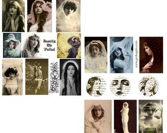 Beauties Unveiled Digital Collage Set