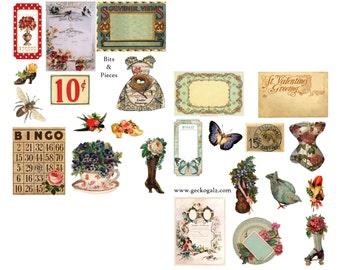 Bits & Pieces Digital Collage Set