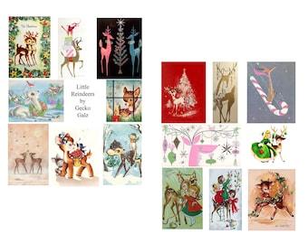 Reindeer Games Digital Collage Set