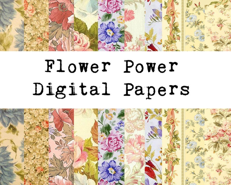Flower Power Paper Pack image 0