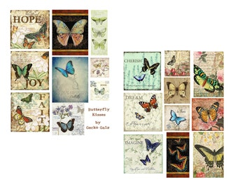 Butterfly Kisses Digital Collage Set