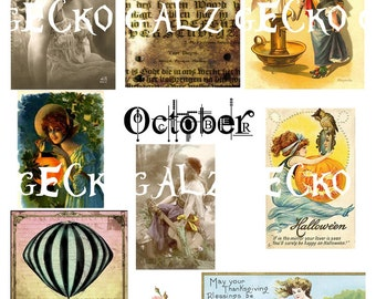 All things October Digital Collage Sheet