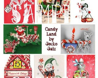 Candy Land Collage Sheet