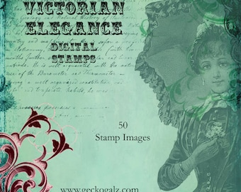 Vintage elegance Digital Stamp Set