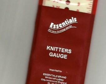 KNITTING NEEDLE GAUGE - Imperial & Metric sizes