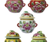 Peranakan Straits Chinese Porcelain Mini Kamcheng with box. Great for Gift Souvenir