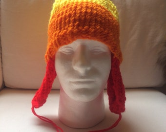 Bright Large Heavy Weight Jayne Mansfield's Candy Corn on the Cobb Hat