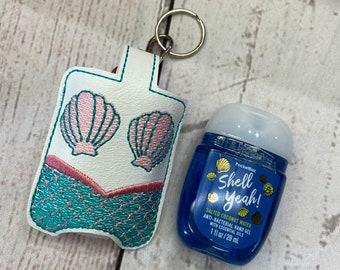 Mermaid Hand Sanitizer Holder choose from 70 Colors - Hand Sanitizer Keeper Hand Sanitizer Clip