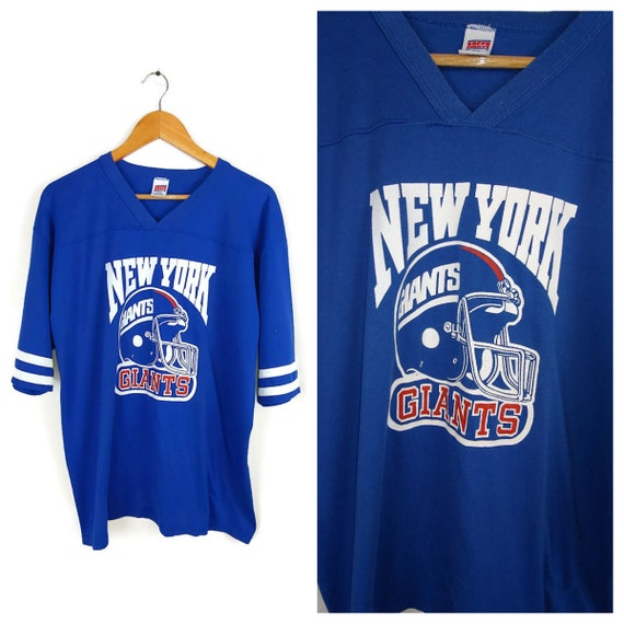 finest selection 38710 29582 New York Giants shirt size XL vintage 80s top Soffe shirts brand blue usa  NY football NFL