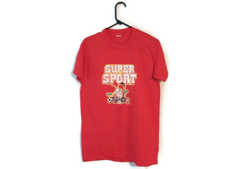 huge selection of aa4b2 04bc5 Vintage 80S 1981 ZIGGY Red Super Sports Tom Wilson Tee t-shirt size M/L