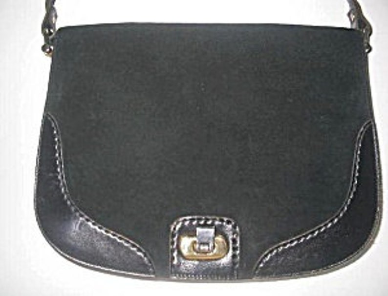 737712fdc9 Black Shoulder Bag Leather   Suede by Ponte Vecchio Made In