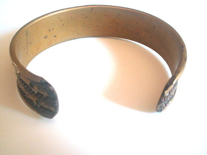 Copper /& Brass Cuff Bangle Mixed Metals 1970s Unisex