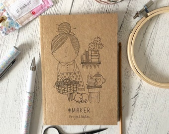 Project notebook /  project notes / knitting / crochet / #maker / crochet / sewing / embroidery / craft