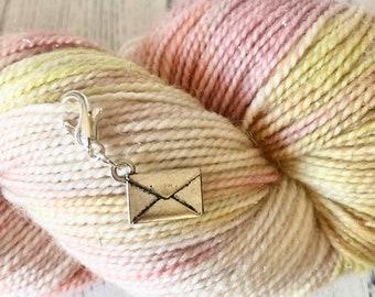 Envelope / letter stitch marker/progress keeper / travellers notebook charm