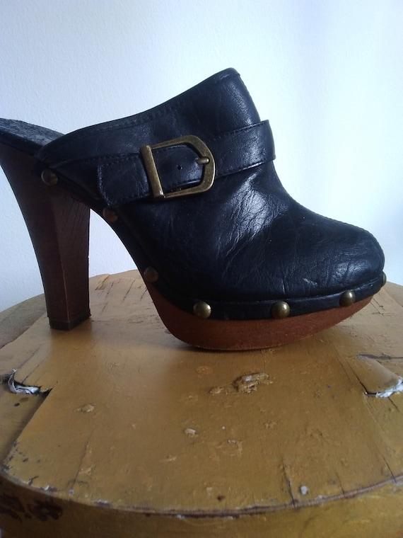 clog heels,clog heels women,grunge heels,rocker he