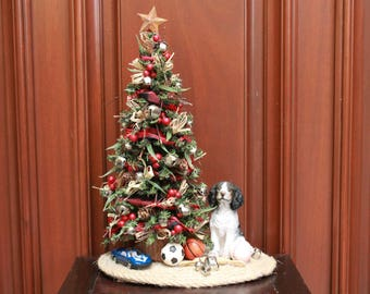 small tabletop christmas tree dog toys xst18 8