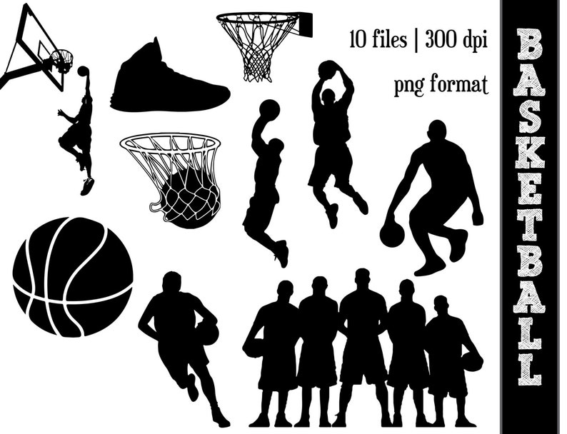 Basketball Silhouettes Sports Silhouette Ball Clipart Athletic Athlete Silhouettes Basketball Hoop
