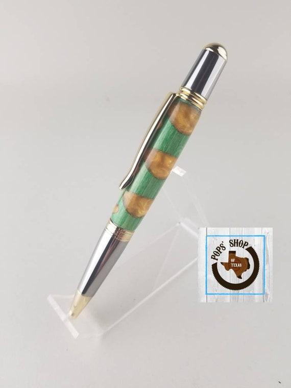 Hand-turned Acrylic Sierra Style Twist Pen