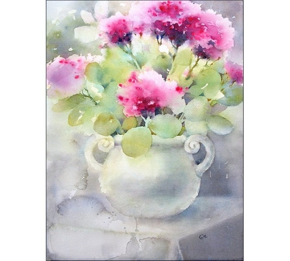 12x16 inches Original watercolor daisies painting