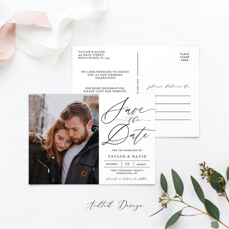 This Is Love Save Our Date Card Instant Download #SD18-PSD Photoshop Save the Date Template Photo Save The Date Template Photography