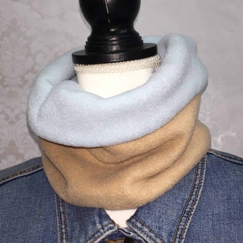 Fleece Tube Style Winter Scarf Cowl Neck Warmer Gaiter Hunter Orange