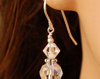 Double Crystal Earrings