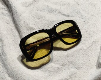 1d28fbdd249 Deadstock Gucci Tortoise Shell Sunglasses with Yellow Lenses (Original  Case